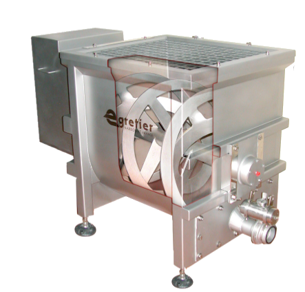 EGRETIER double concentric ribbon mixer for food industry