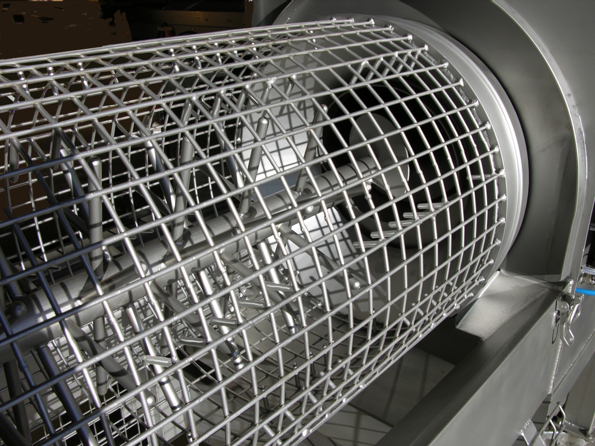 Cage of the EGRETIER separator crumbler for the food industry and collective catering.