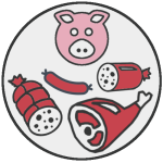 EGRETIER: Equipment for the food industry, delicatessen, pork