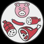 EGRETIER: Equipment for the food industry, delicatessen, pork