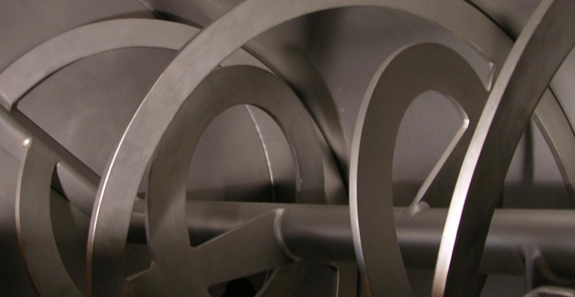 EGRETIER Double concentric ribbon mixer
