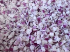 Separation of raw onions IQF by separator crumbler EGRETIER for food industry and collective restoration