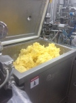 Butter mixed in EGRETIER double ribbon mixer for food industry